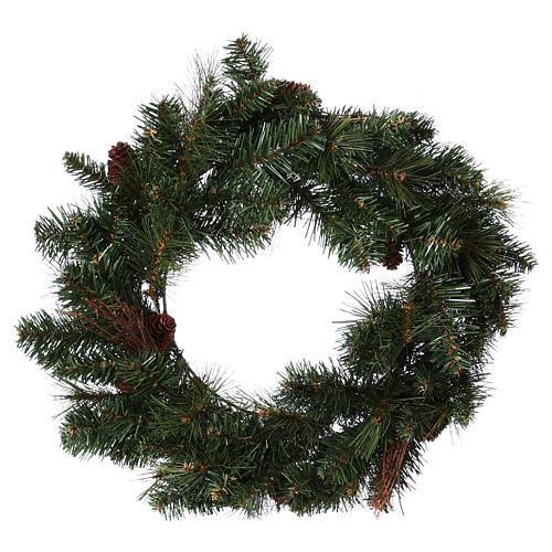 Advent wreath garland with pine cones, diameter 50 cm 1