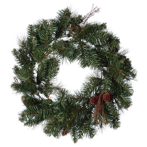 Advent wreath garland with pine cones, diameter 50 cm 2