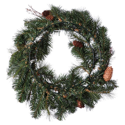 Advent wreath garland with pine cones, diameter 50 cm 5