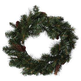 Enfeites de Natal para a Casa: Coroa Advento diâm. 50 cm com pinhas
