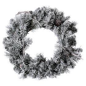 Coroa do Advento diâm. 50 cm com neve s1