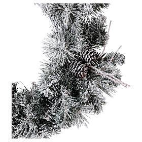 Coroa do Advento diâm. 50 cm com neve s2