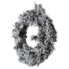 Coroa do Advento diâm. 50 cm com neve s3