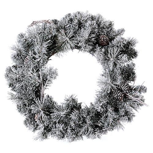 Coroa do Advento diâm. 50 cm com neve 1
