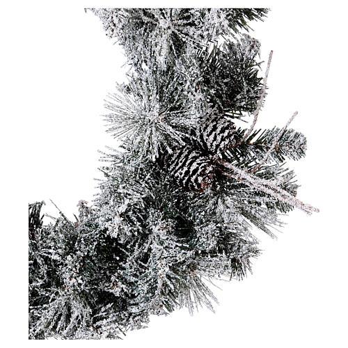 Coroa do Advento diâm. 50 cm com neve 2
