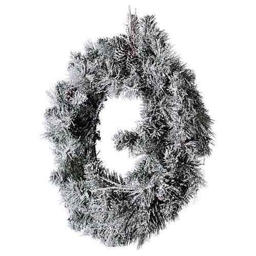Coroa do Advento diâm. 50 cm com neve 3