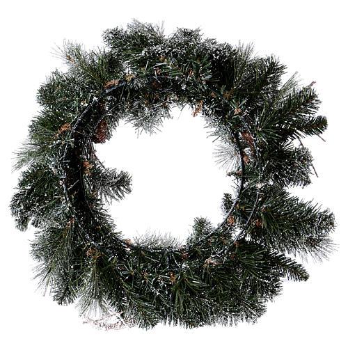 Coroa do Advento diâm. 50 cm com neve 4