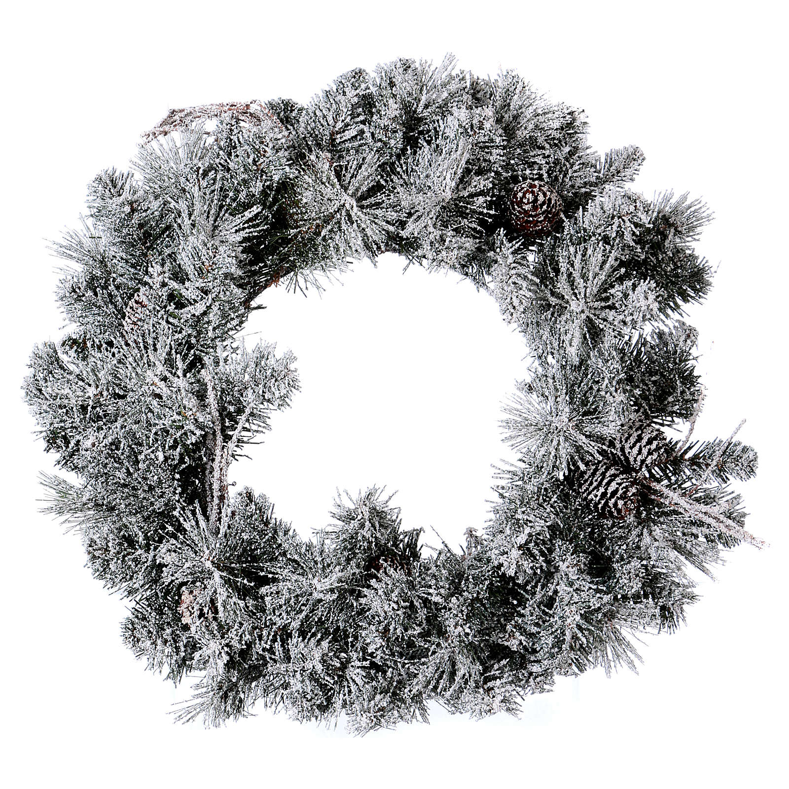 Christmas wreath with fake snow, diameter 50 cm | online sales on ...