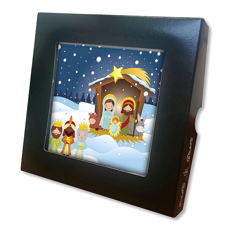 Azulejo cerámica impresa Sagrada Familia y Niño Jesús oración posterior 3