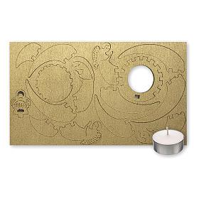 Candelero de madera dorada imagen Belén s2