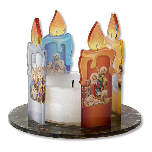 Advent wreath in plexiglass and candle 1
