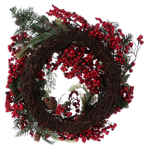 Advent wreath with red berries diam. 50 cm 3