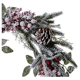 Advent wreath with berries and snow diam. 50 cm s2