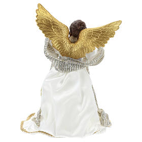 Christmas tree angel topper white cloth 28 cm resin s5