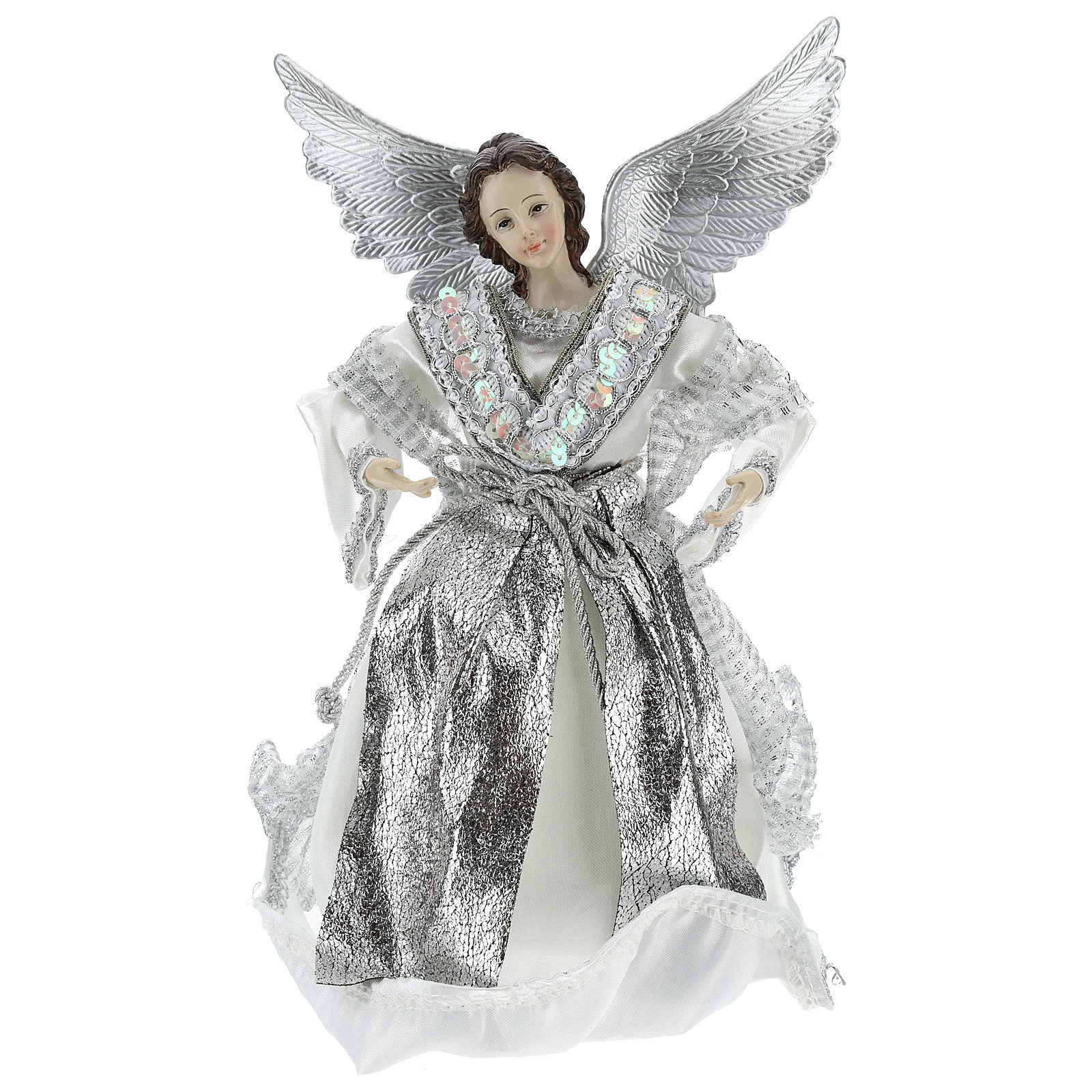 Announcer Angel topper with silver clothes 28 cm 3