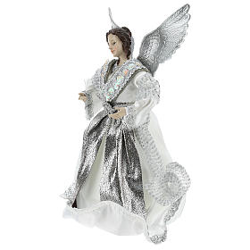Announcer Angel topper with silver clothes 28 cm s3