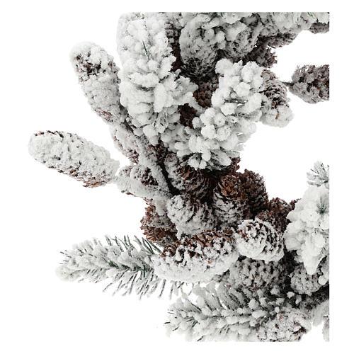 Corona Adviento con piñas y nieve 33 cm 2