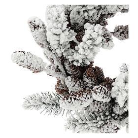 Corona Avvento con pigne e neve 33 cm s2