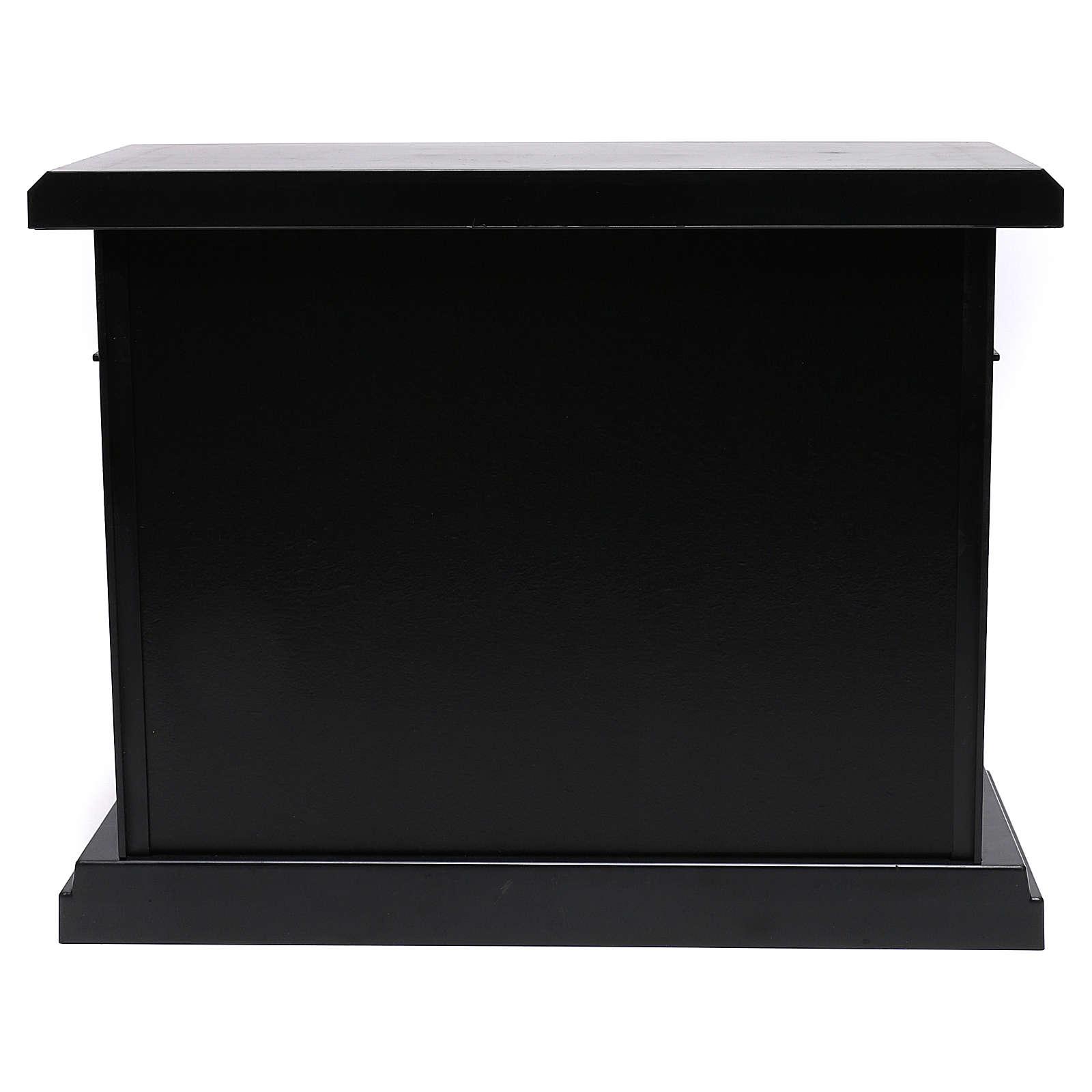 Chimenea negra led 35x40x15 cm efecto llama 3