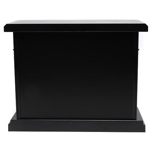 Chimenea negra led 35x40x15 cm efecto llama 5