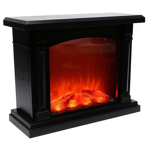 Cheminée noire LED 35x40x15 cm effet flamme 4