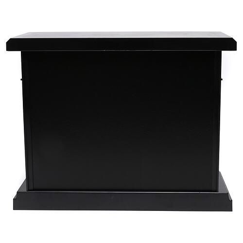 Lareira decorativa LED preta efeito chama 35x40x15 cm 5