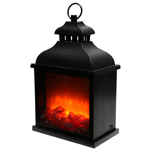 Lanterne LED effet flamme 20x25x15 cm 3