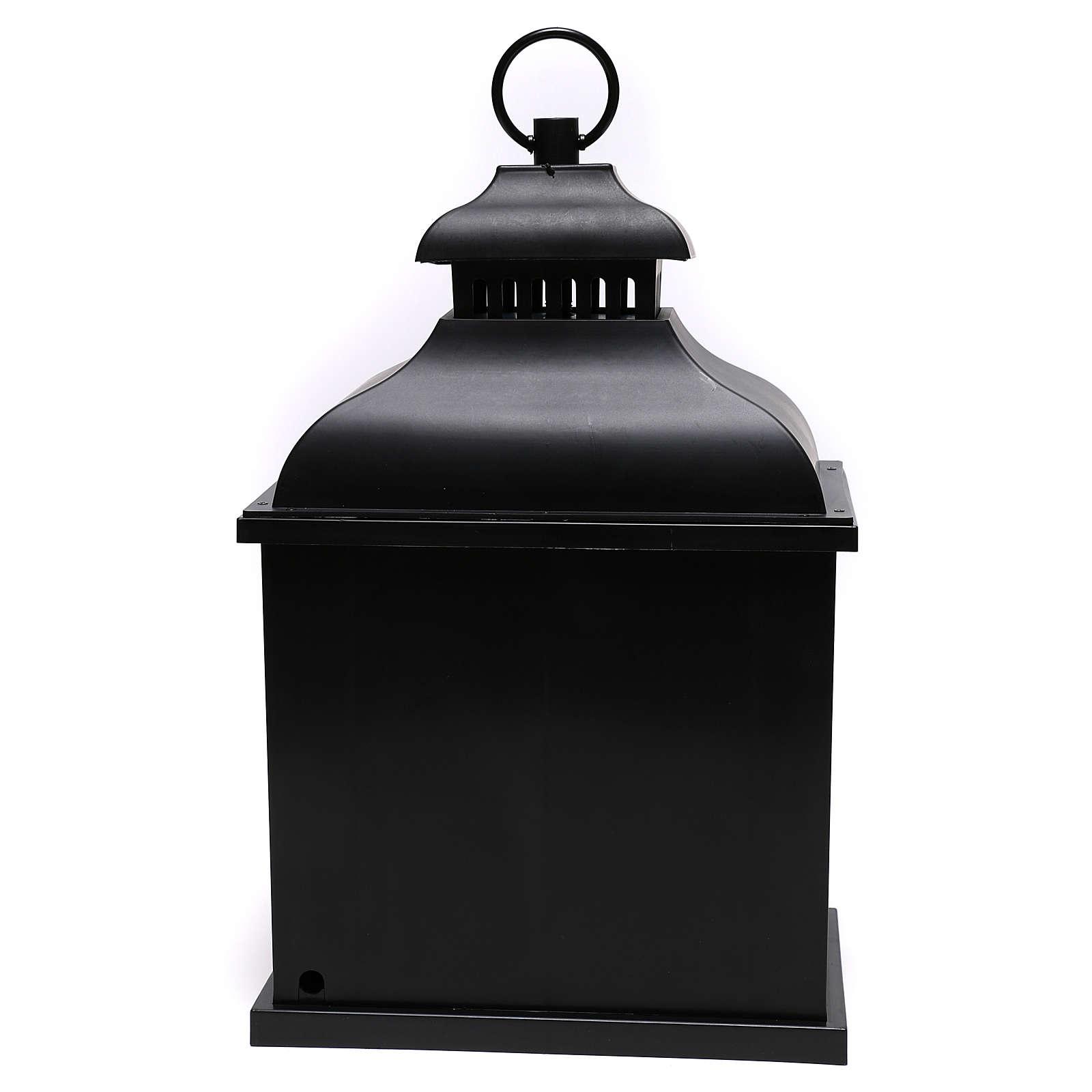 Lanterna LED efeito chama 20x25x15 cm 3