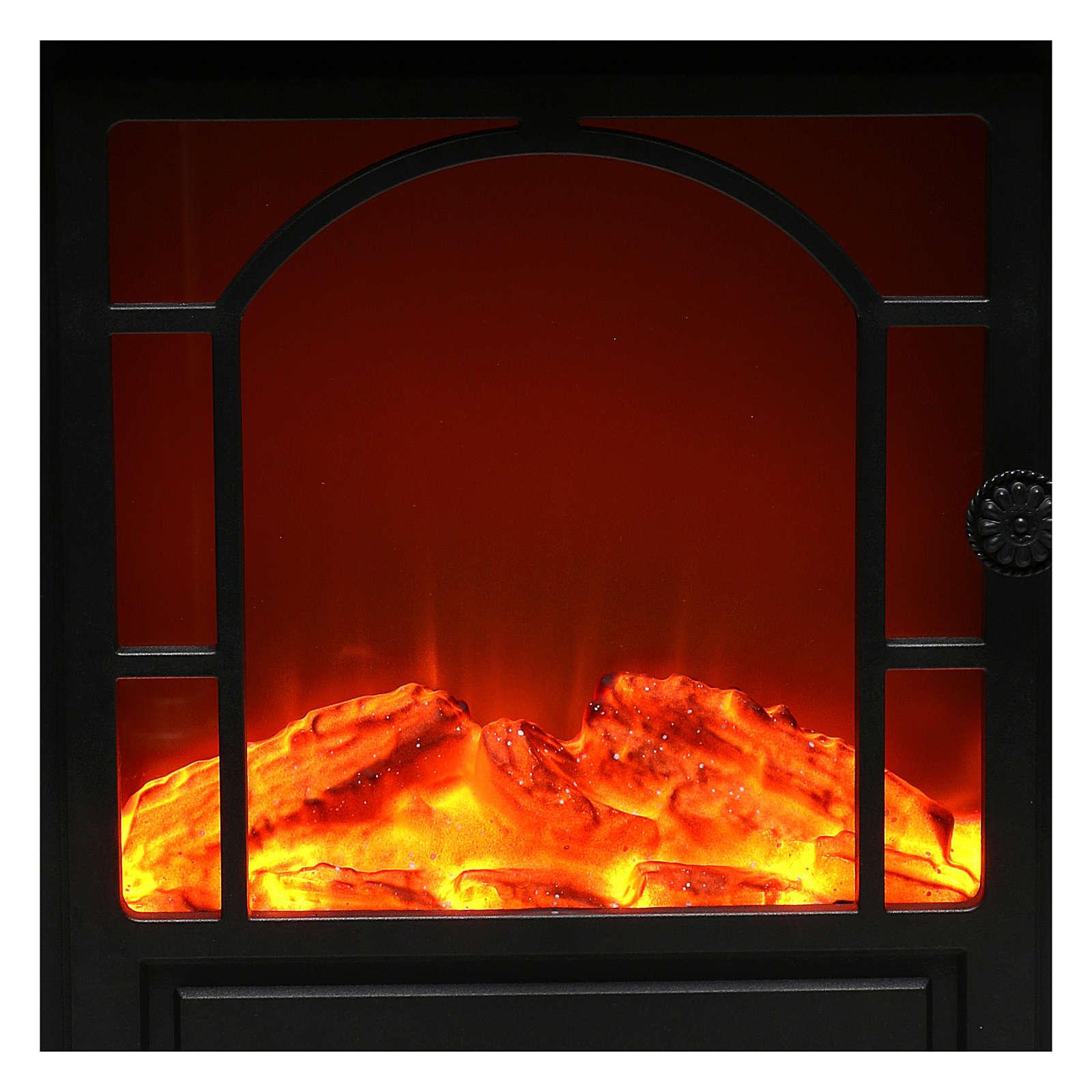 Caminetto led effetto fiamma 40x35x15 cm 3