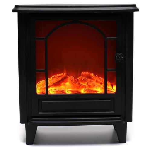 Caminetto led effetto fiamma 40x35x15 cm 1
