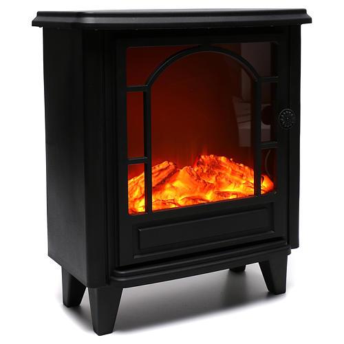 Caminetto led effetto fiamma 40x35x15 cm 4
