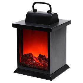Lanterna led effetto fiamma 25x15x15 cm s2