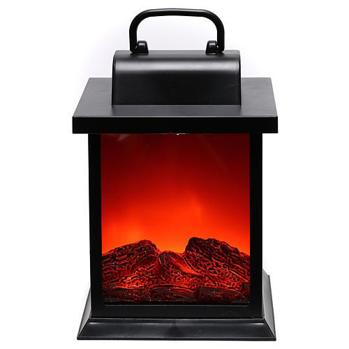 Lanterna led effetto fiamma 25x15x15 cm 1