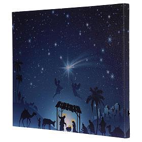 Cuadro iluminado led Natividad y cometa 30x40 cm s3