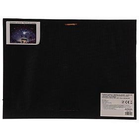 LED Nativity Scene frame with comet 30x40 cm s4