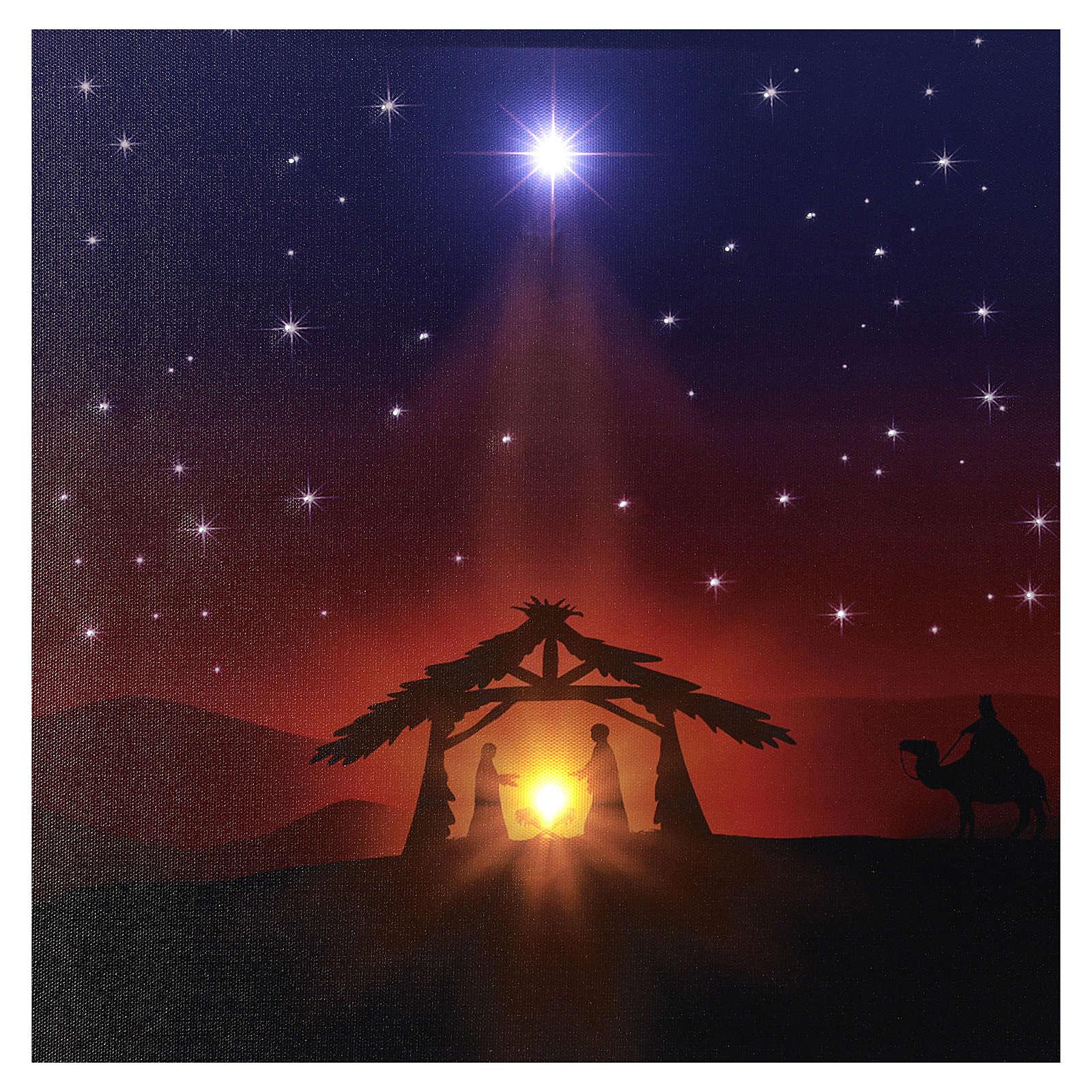 Illuminated 40x60 cm Nativity picture 3