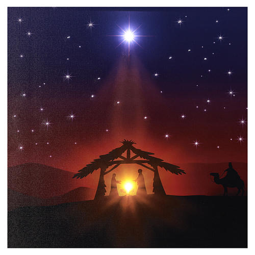 Illuminated 40x60 cm Nativity picture 2