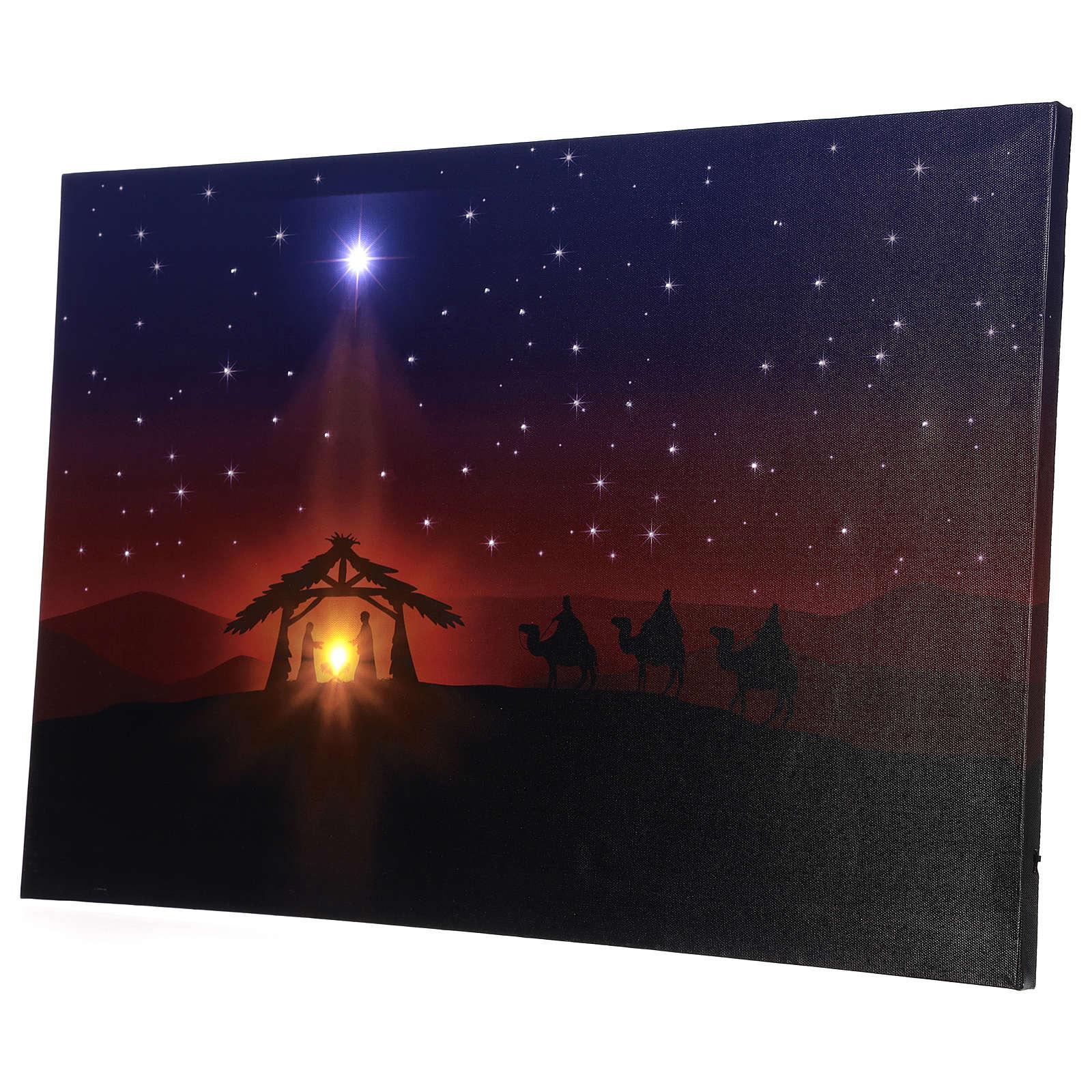 Quadro Natività led 40x60 cm led illuminato 3