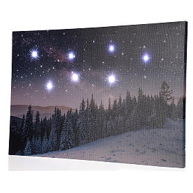 Christmas painting with snowy night landscape 40x60 cm s3