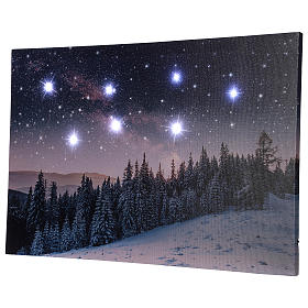 Christmas painting with snowy night landscape 40x60 cm s4