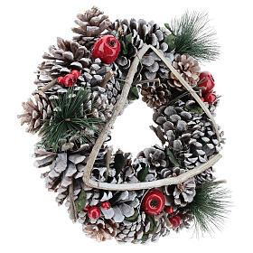 Christmas wreath with twig triangle diam. 32 cm s4