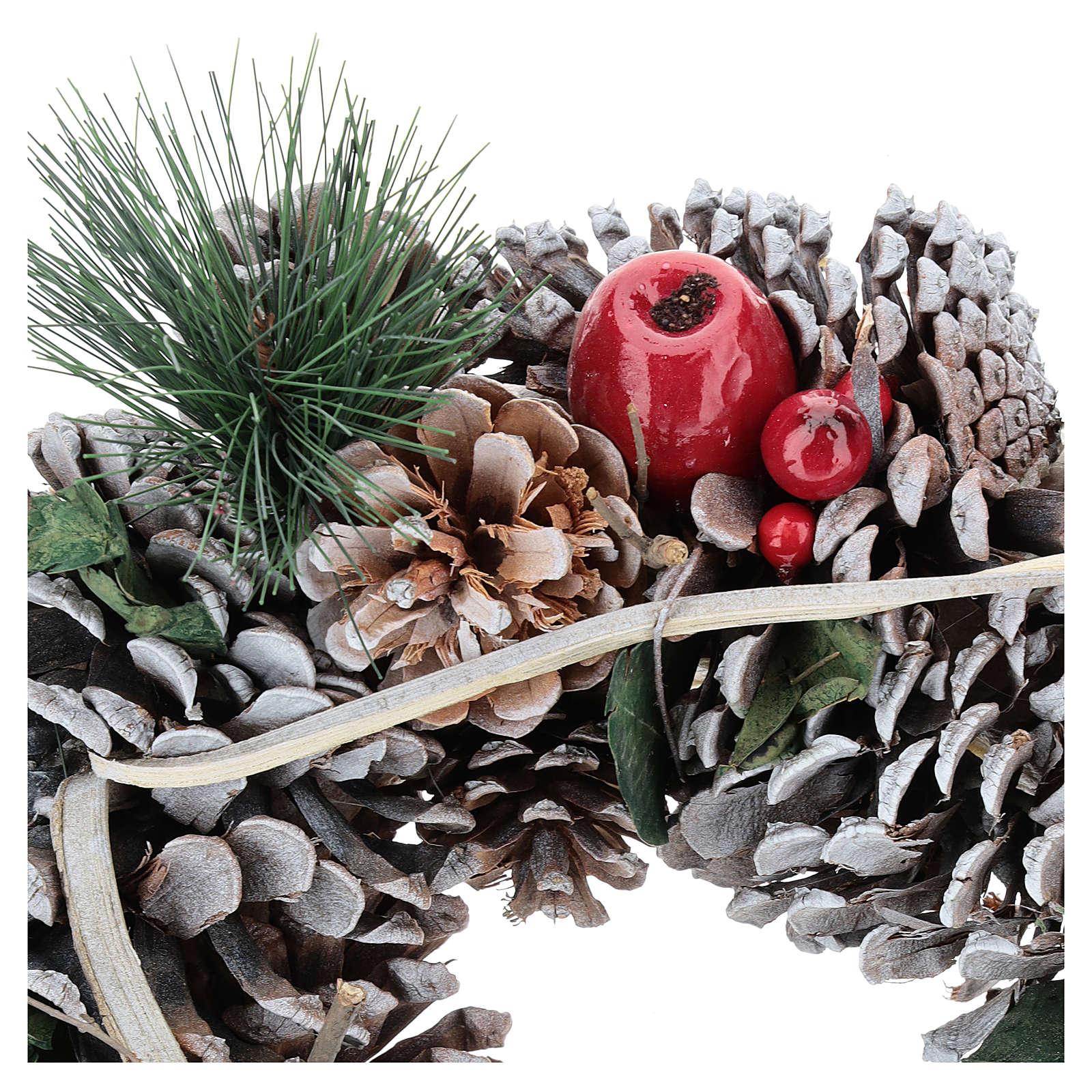 Couronne Noël branches en triangle 32 cm 3