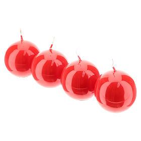 Kit de Adviento corona velas rojas ramas entrelazadas s4