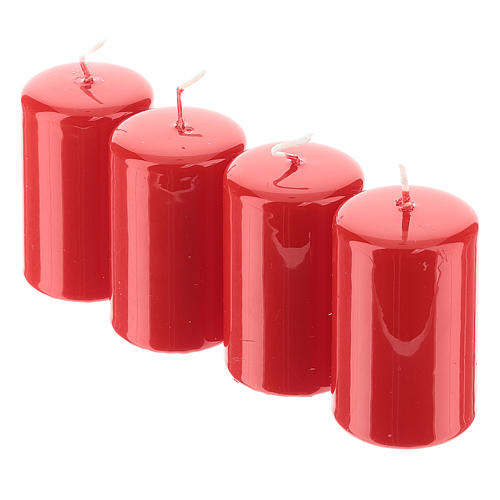 Kit avent couronne avec pommes de pin piques dorés et 4 bougies rouges 4