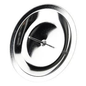 Porta-vela para coroa do Advento conjunto 4 peças prateadas diâm. 7 cm s2