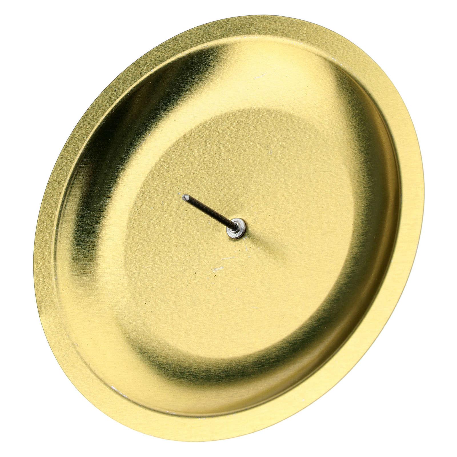 Portavela para corona Adviento (set 4 piezas) dorada diám. 7 cm 3