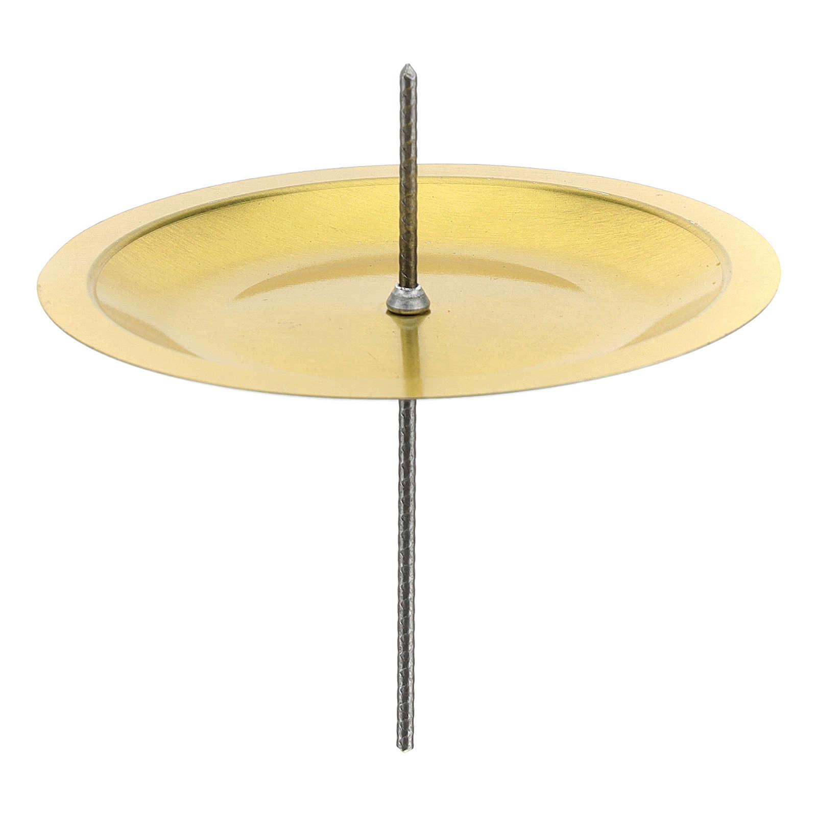 Portavela para Adviento (set 4 piezas) diám. 7 cm latón plateado 3