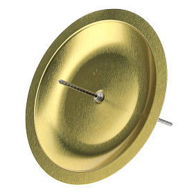 Portavela para Adviento (set 4 piezas) diám. 7 cm latón plateado s2