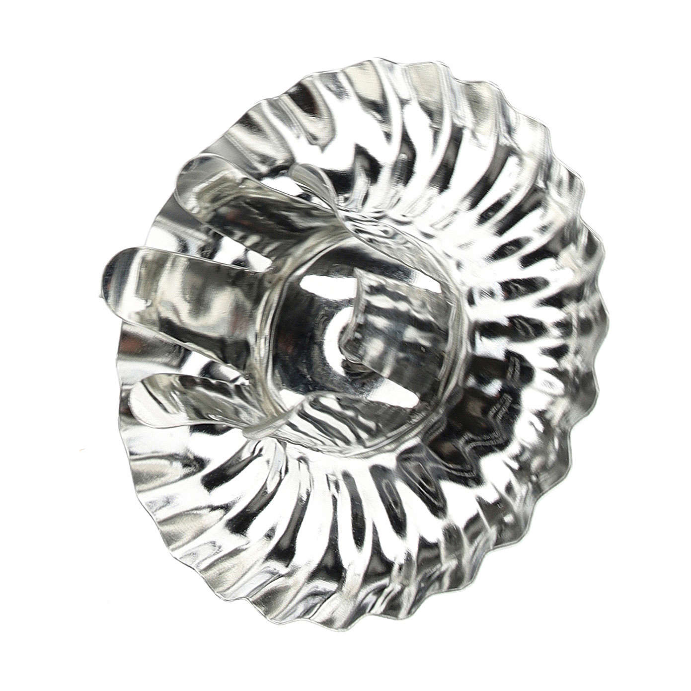 Candle holder for Advent wreath, set of 4 pcs, silver flower-shaped 5 cm 3