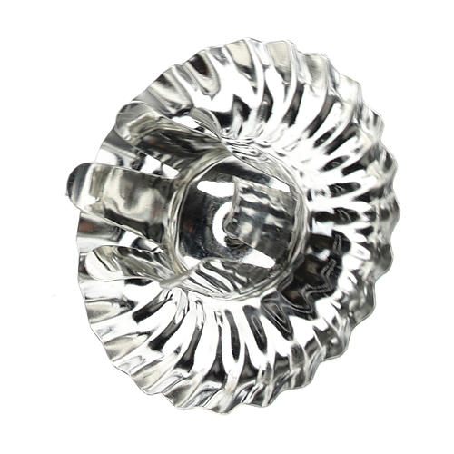 Candle holder for Advent wreath, set of 4 pcs, silver flower-shaped 5 cm 2